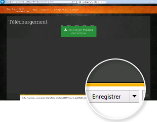 In Edge Web Browser, click Save to download installer.